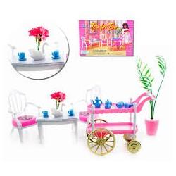 Nábytek pro barbie - posezení u čaje