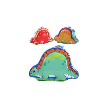 Kasička/Pokladnička dinosaurus - plechová