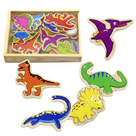 Dřevěné magnety - Dinosauři , 20 kusů