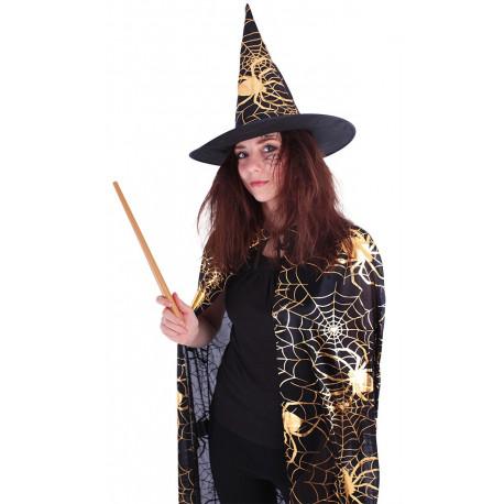 Plášť čarodějnice/halloween s kloboukem