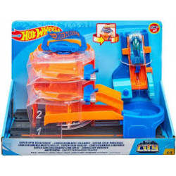 Hot wheels - City Deluxe set Super Spin Dealership