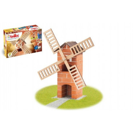 Stavebnice Teifoc Větrný mlýn 100ks v krabici