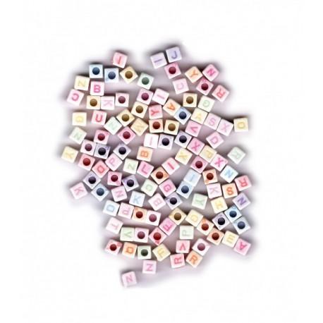 Korálky plastové - abeceda