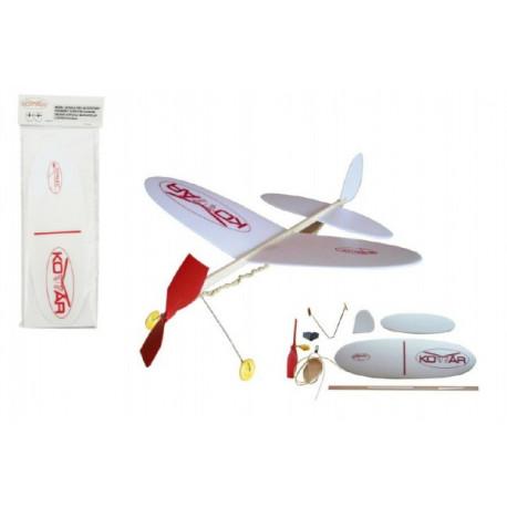 Letadlo Komár házecí model na gumu polystyren